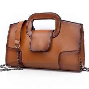 Handbags - NEW Brown Leather Clutch Bag Small